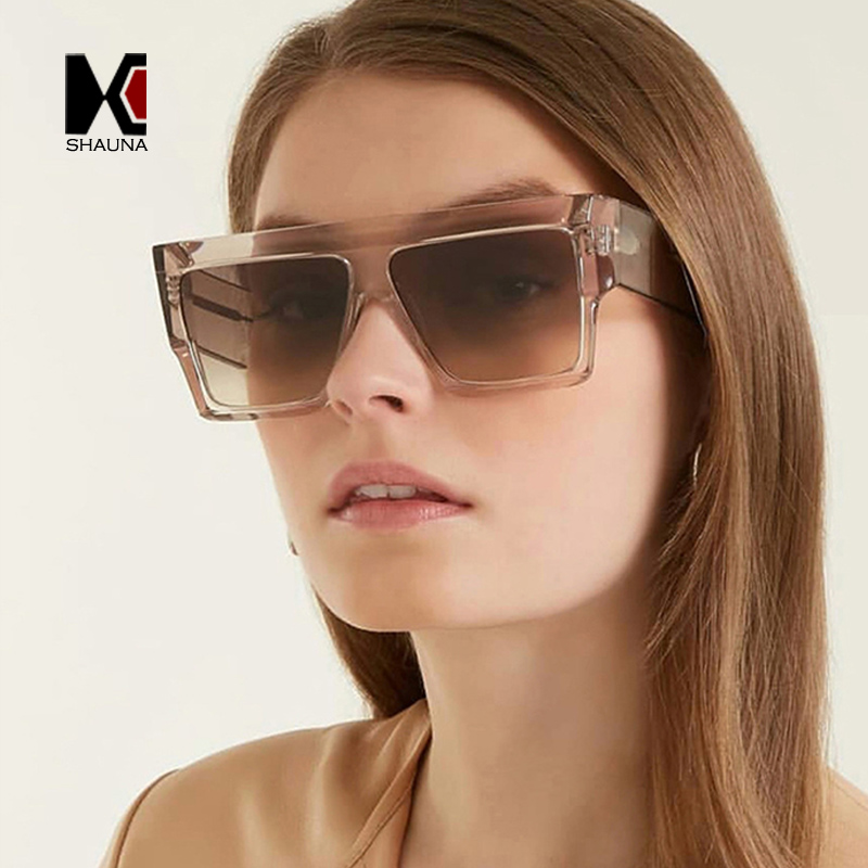 fb0e14e82e Diseñador Shades Marca Grey Mujer Gafas Red champagne Bisagra Gradient  Metal Grey Leopard black Cuadrado Shauna Retro transparent Sol ...