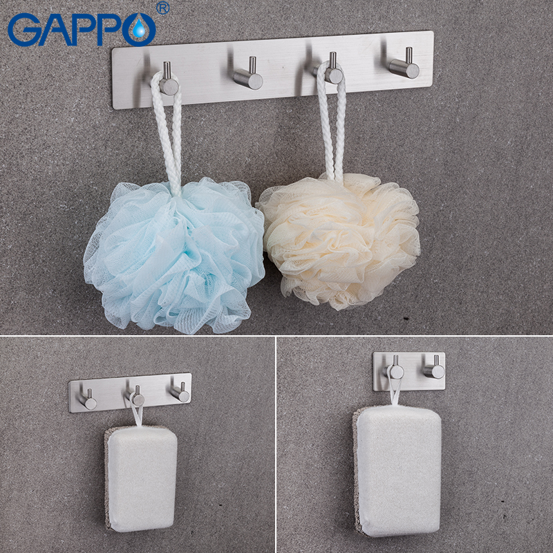 GAPPO Robe Hooks Clothes Hook Stainless Steel Hooks Wall Mounted Bathroom Towel Hanger Tower Hooks