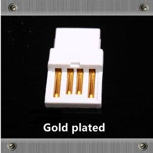 Image 3 - Or Plaqué Cuivre USB Type dinterface Un Type B Mâle jack usb Connecteurs adaptateur pour câble audio DAC Imprimante ligne bricolage câble USB