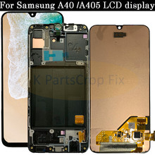 Süper AMOLED Samsung A40 LCD A405 LCD A40 LCD ekran Samsung A40 A405 LCD dokunmatik ekranlı sayısallaştırıcı grup Değiştirme