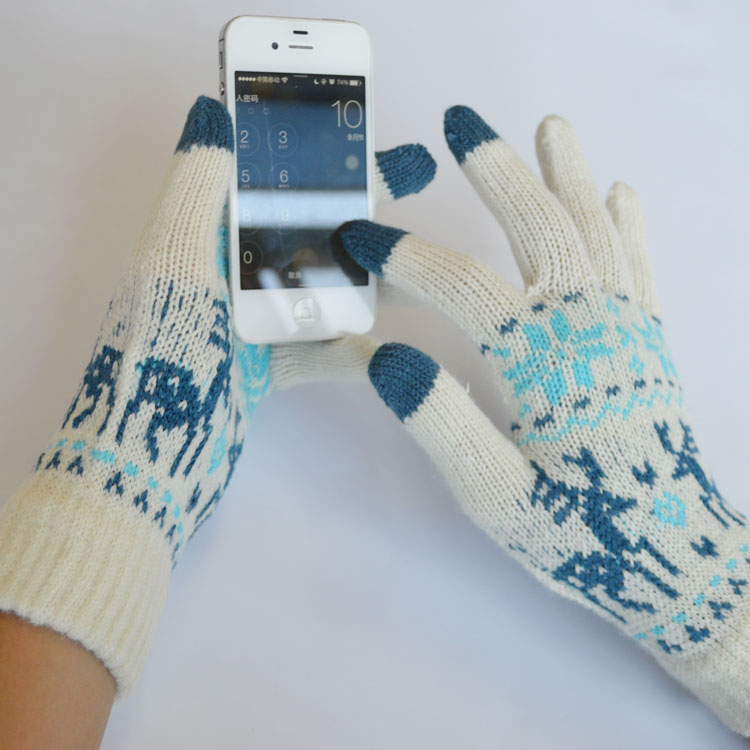 купить Touch Screen Magic Gloves Women and men use in winter дешево