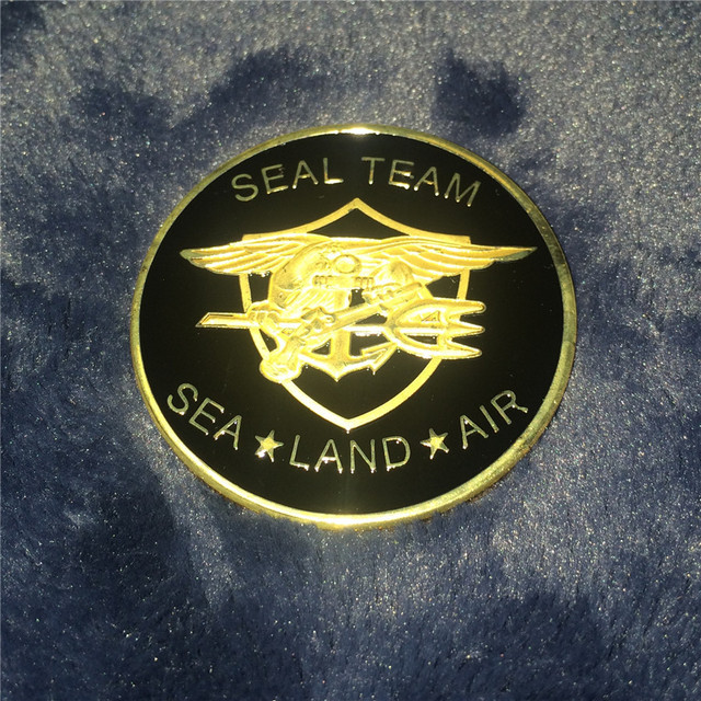 c22be08f8332e Sample Order!!! US Navy SEAL TEAM Gold Plated Challenge Coin