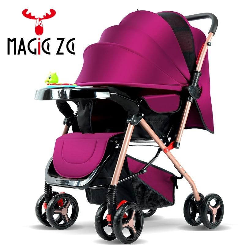 EU RU NO TAX Baby Stroller light folding umbrella Stroller baby buggy car can sit can