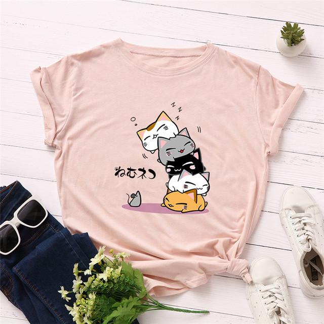 Women's Cats Printed T-Shirt
