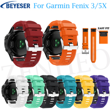 цена на Replacement Soft Silicone Watchband for Garmin Fenix 3/Fenix 3 HR Watch bracelet band for Garmin Fenix 5X Plus Sport wrist Strap