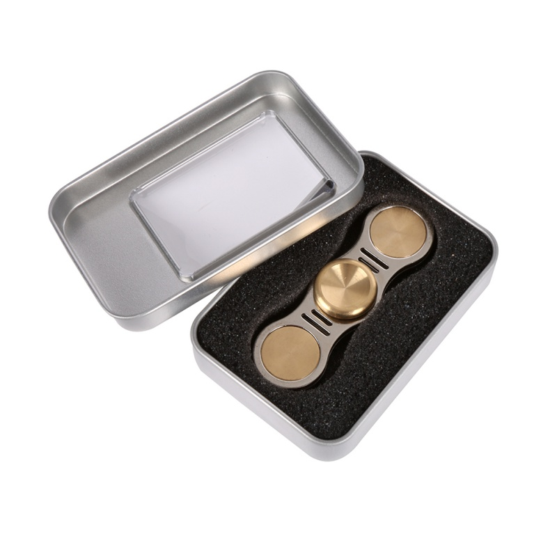 3 Styles Hand Spinner Fidget Focus Toy Brass Copper Cube Tri-Spinner EDC For Kids/Adults