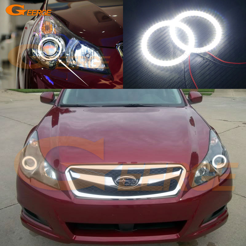 For Subaru Legacy Outback 2010 2011 2012 2013 2014 Excellent Angel Eyes Ultra bright illumination smd led Angel Eyes kit car rear trunk security shield shade cargo cover for subaru outback 2011 2012 2013 2014 2015 2016 2017 black beige