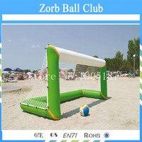 Бесплатная доставка Air Tight воду пляжные Игрушечные лошадки надувные Футбол ворота, надувные всплывающие Футбол цель для тренировок