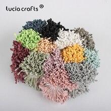 Lucia crafts 330 шт 3 мм Высокое качество матовый двойной цветок с головками stamen pistil украшения торта ремесло DIY C1202
