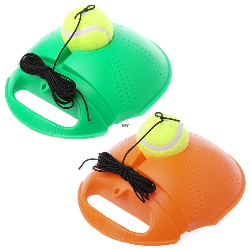 1 Set Tennis Training Tools With Base Single Exercise Coach Rebound Self-study Ball Bounce Direct Sports Trainer Practice Hit De