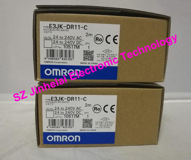 New and original E3JK-DR11-C, E3JK-TR11-C OMRON Photoelectric switch Photoelectric sensor 2M photoelectric switch 4m e3jk r4m1 retroreflective photoelectric sensor ac90 250v 18 50 50