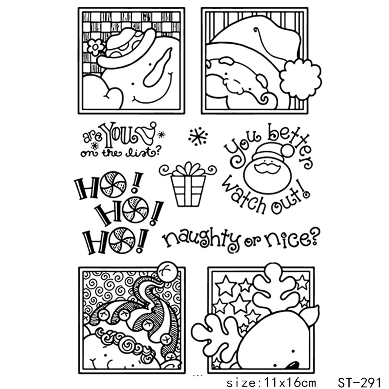 AZSG  Christmas snowman Theme clear stamp scrapbook rubber seal paper craft card making