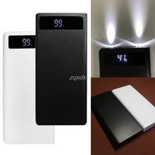 Portable Slim Dual USB LED Light 8x 18650 Battery DIY Power Bank Box Holder Case For Mobile Phone Whosale&Dropship