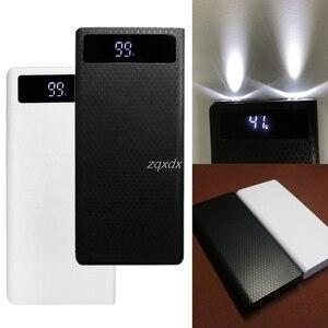 Image 1 - Portable Slim Dual USB LED Light 8x 18650 Battery DIY Power Bank Box Holder Case For Mobile Phone Whosale&Dropship