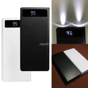Image 1 - Portable Slim Dual Usb Led Licht 8X18650 Batterij Diy Power Bank Box Holder Case Voor Mobiele Telefoon Rental & Dropship