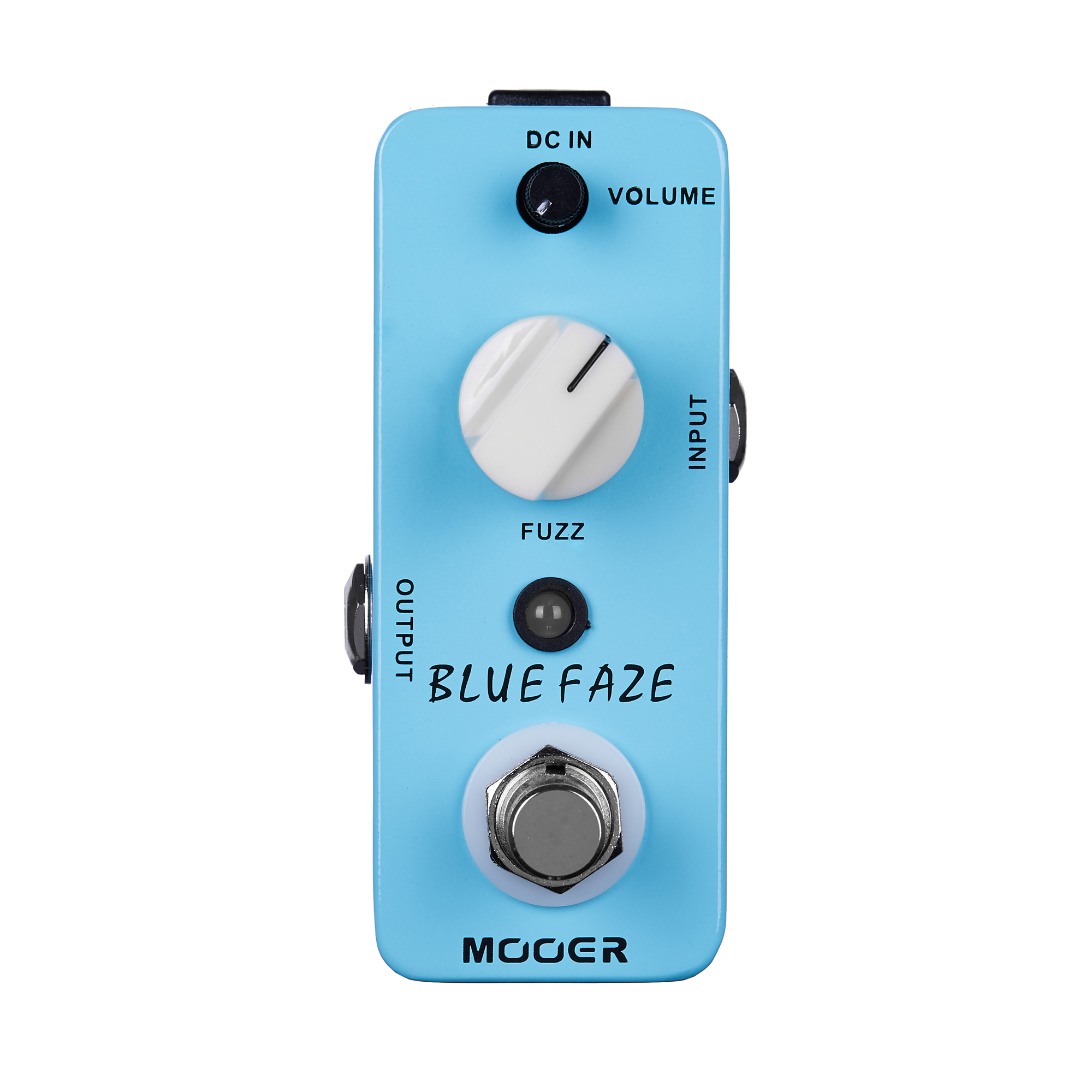 Mooer Blue Faze Fuzz Pedal Electric Guitar Effect Pedal True Bypass MFZ1 mooer grey faze fuzz guitar effect pedal electric guitar effects true bypass with free connector and footswitch topper