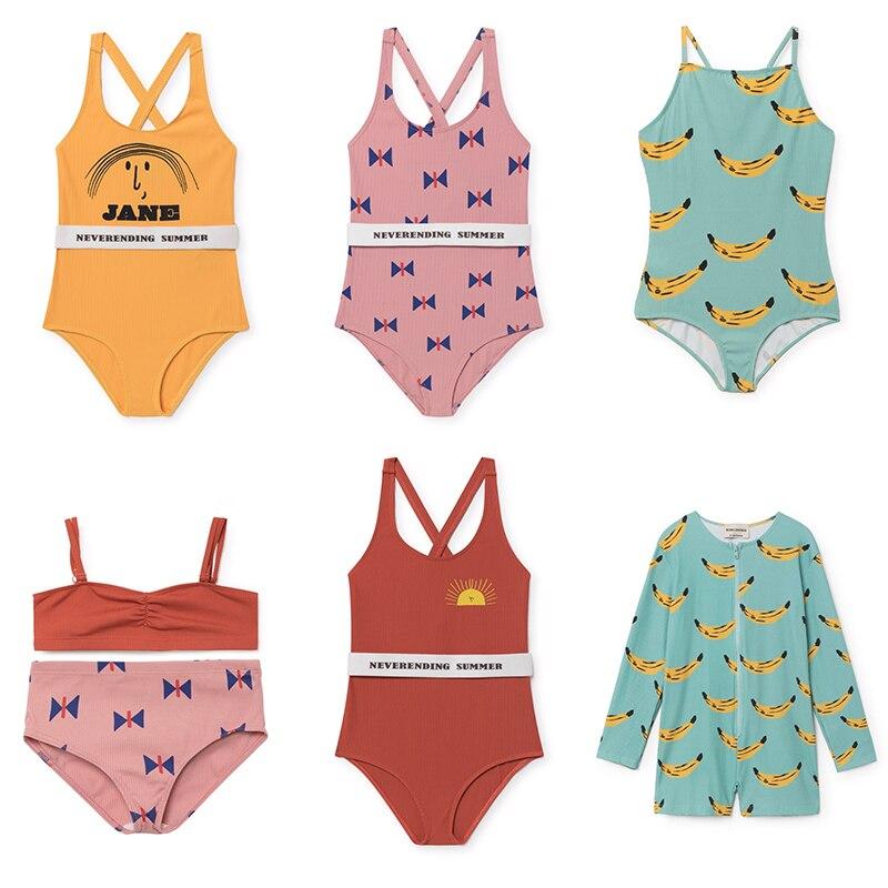 2018 SPRING SUMMER kids baby boy clothes kids clothing sets BOBO CHOSES SWIMWEARS BOYS CLOTHING GIRLS CLOTHING SET BIKINI black spaghetti padded design bikini set swimwears