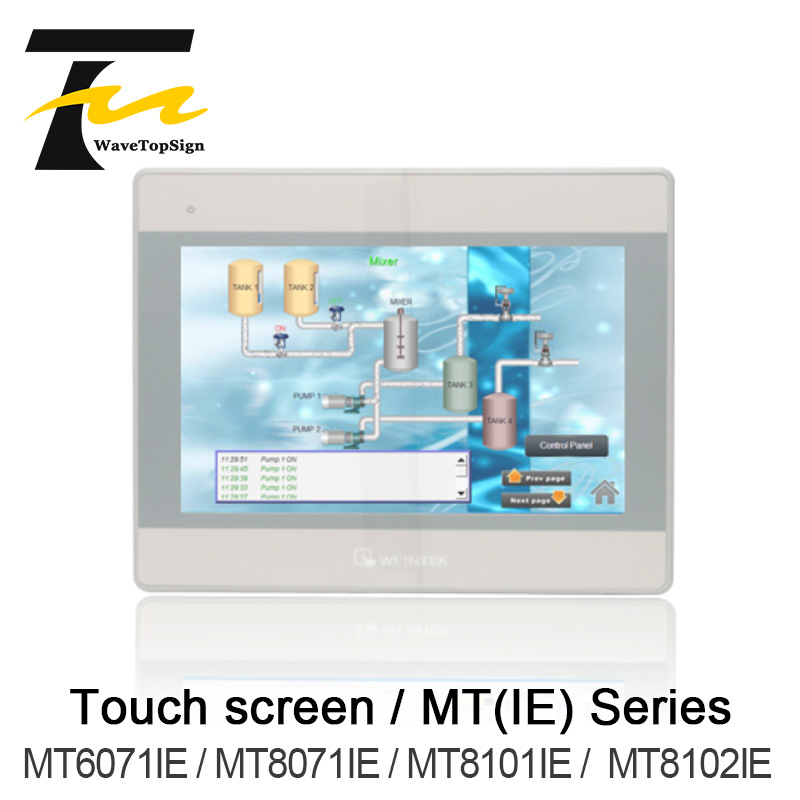 Weinview tela sensível ao toque mt6071ie mt8071ie mt8101ie mt8101ie 7 polegada 10 polegada + u disk download + cabo de comunicação + cabo de download