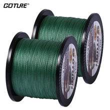 Goture 2pcs/lot 500 Meters 4X Multifilament PE Braided Fishing Line Freshwater Carp Fishing Or Saltwater Big Game Fishing Line