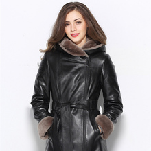 Imported Australian Sheepskin real Sheepskin Women's fur coat Natural fur thick and warm