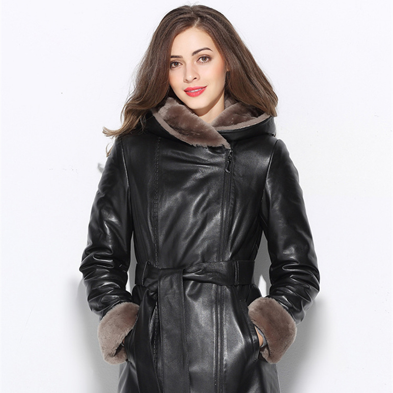 Imported Australian Sheepskin real Sheepskin Women's fur coat Natural fur thick and warm
