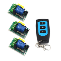 Home Automation System 220V 30A High Power Wireless RF Remote Control Switch with 3 Gangs Transmitter SKU: 5529