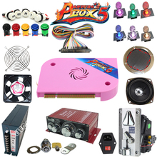 Arcade parts Bundles kit With Joystick Pushbutton Microswitch Player button Speaker 1300 in 1 Game PCB to Build Up Arcade Machin цены