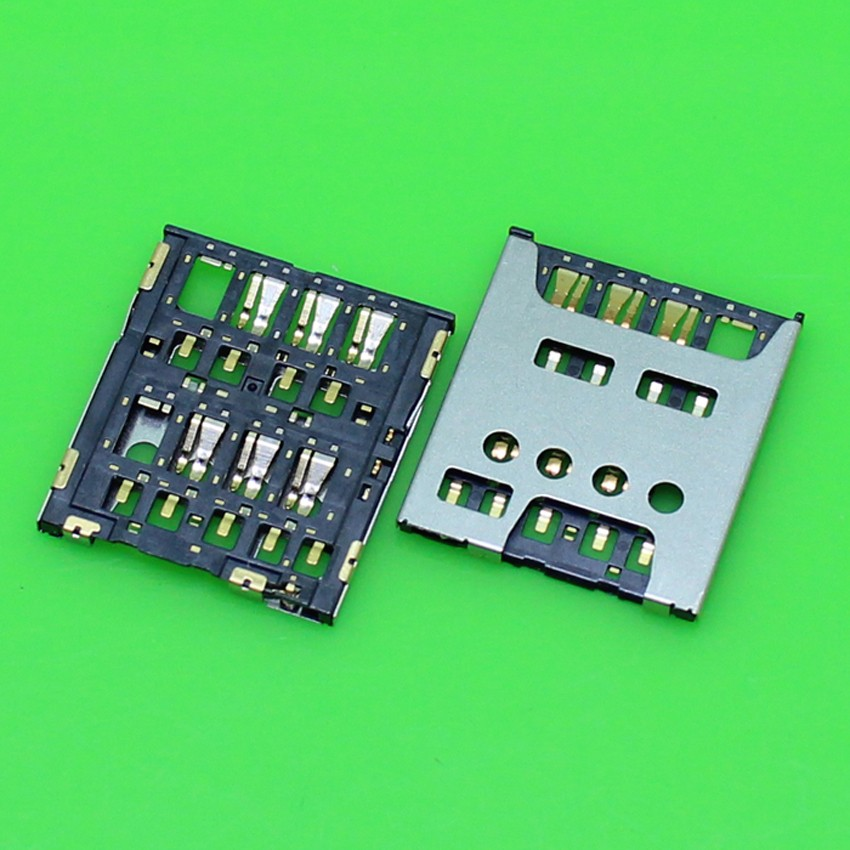 50pcs <font><b>SIM</b></font> card reader socket holder slot connector for <font><b>Nokia</b></font> Lumia <font><b>1320</b></font> <font><b>SIM</b></font> Card Tray image