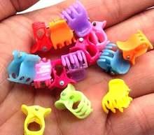 Детские пластиковые заколки для волос goth kawaii 500 шт 3 зубца