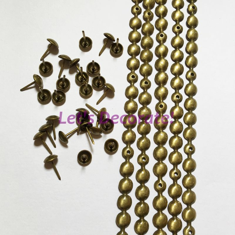 9.5mm//11mm Nickel//Brass//Bronze Plated Decorative Nail Strips... 10 meters a lot