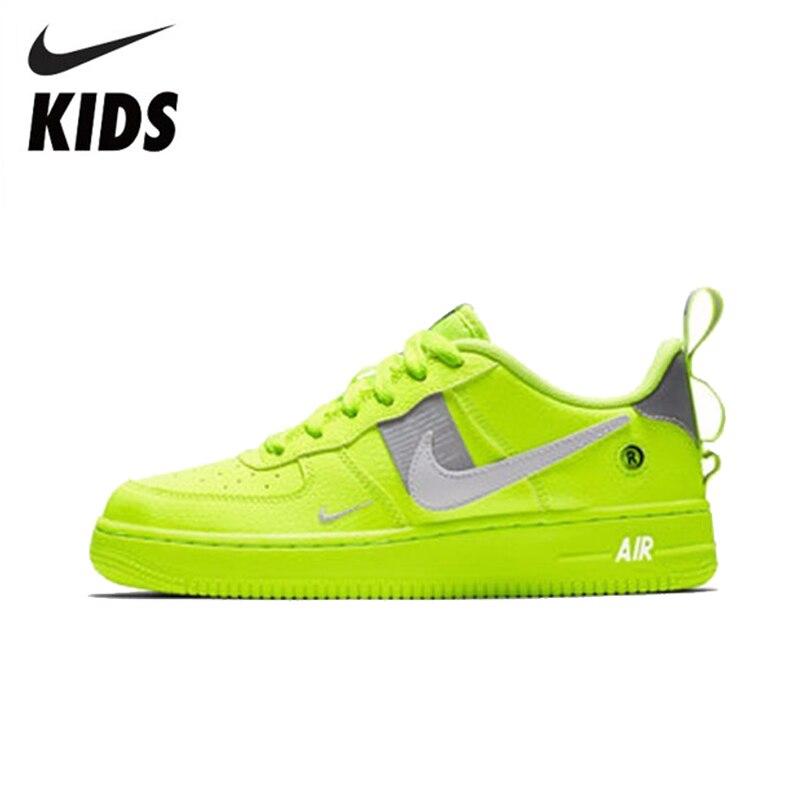 Nike AIR FORCE 1 LV8 UTILITAIRE (GS) à L'aise Va Enfant Mouvement de Course de L'enfant Chaussures # AR1708