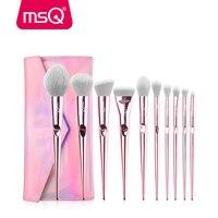 MSQ 10 шт. набор кистей для макияжа Румяна основа теней для век Макияж Кисти Набор Профессиональный pincel maquiagem дорожный Макияж инструмент