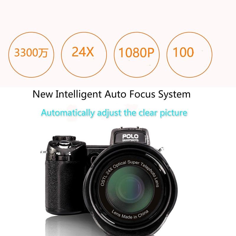2017 HD PROTAX POLO D7100 Digital Camera 33Million Pixel Auto Focus Professional SLR Video Camera 24X