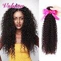 V MOSTRAR Produtos para o Cabelo Brasileiro Kinky Curly Virgem Cabelo 8A Virgem Brasileira Encaracolado Extensões de Cabelo 100% Real Cabelo Humano Weave