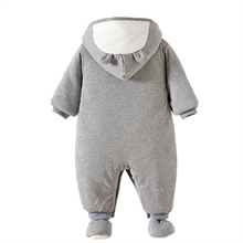 Cotton Baby Boy Hooded Rompers