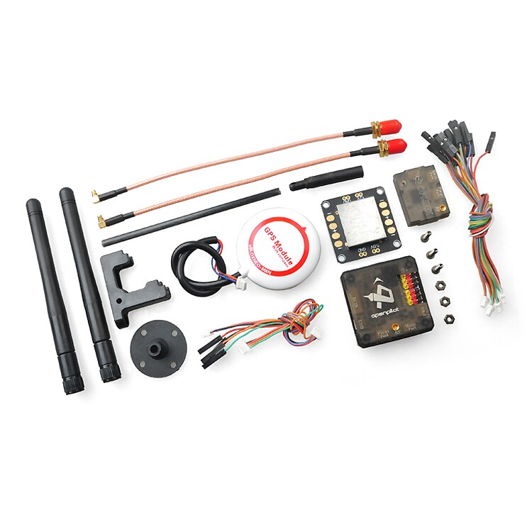 F16009 OpenPilot CC3D Revolution Flight Controller Combo with M8N GPS OPlink Transceiver CC3D Power distributors plate Board цена