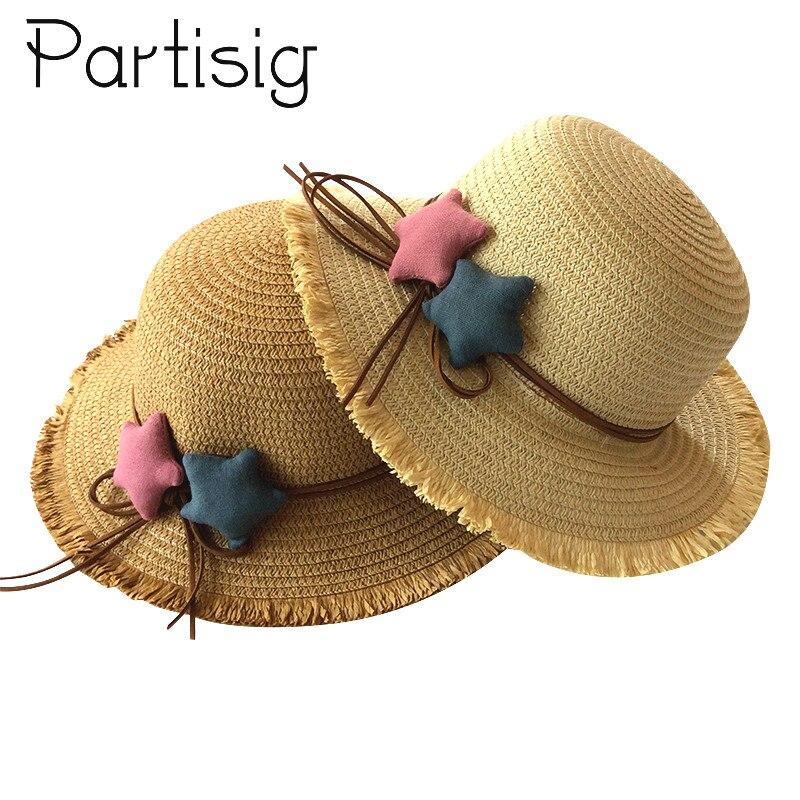 Cappelli Delle Ragazze Di Estate Cappello Di Paglia Per Le Ragazze Cappello Di Panama Per Bambini Star Protezione Del Sole Cappelli Del Bambino Caps