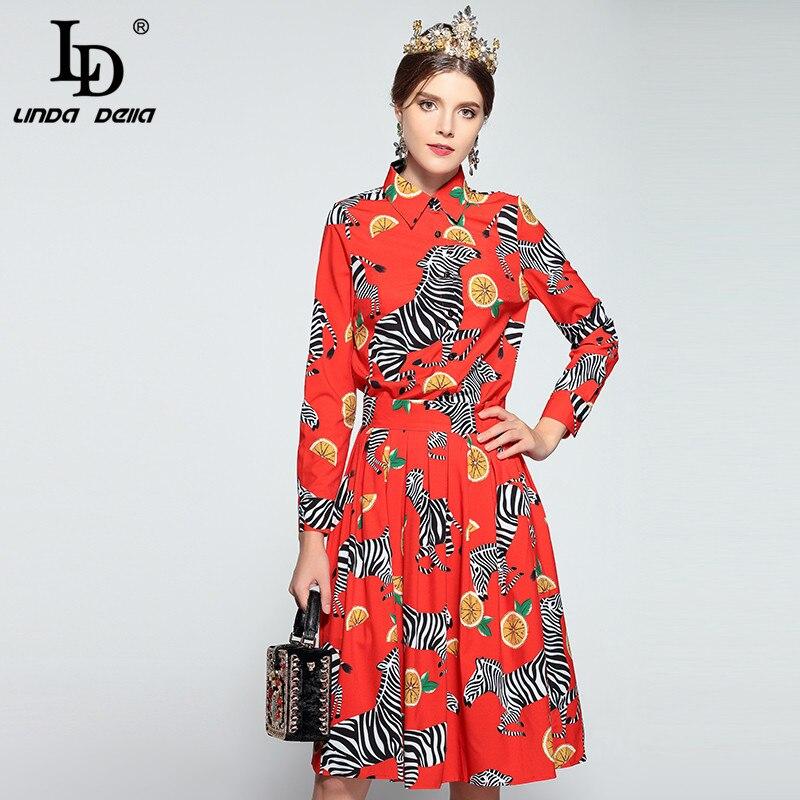 38d4e889d8 2018 New Designer Fashion Runway Suit Women Printing Turn-down Collar Long  Sleeve Shirt+ankle-length ...