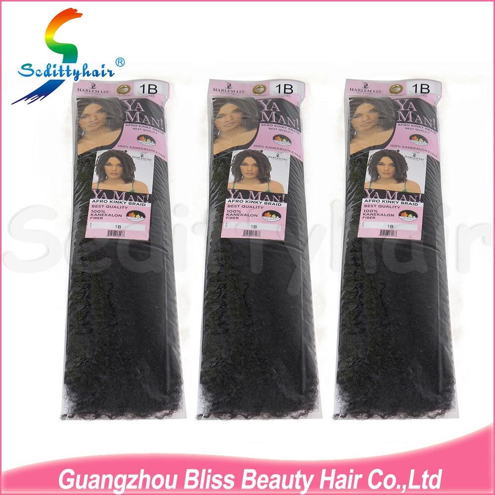 10 Pcs 100 Kanekalon Fiber Harlem 125 Yaman Afro Kinky Braid Hair