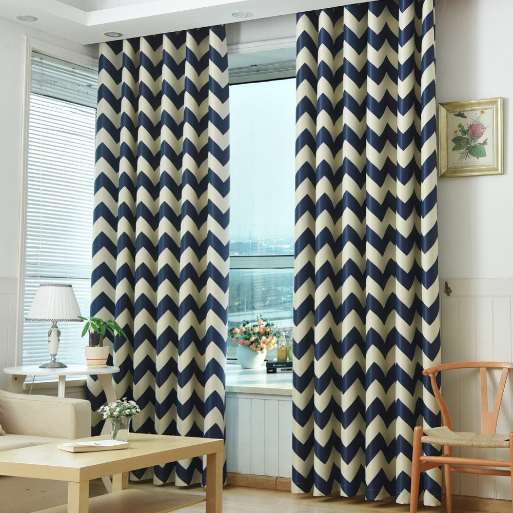 US $12.38 52% OFF|Blackout curtains modern window treatment blind shade  living room door geometric bedroom curtain panel children room short-in ...