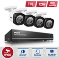 Sannce 4 ch 1080n 720 p sistema de cámaras de seguridad cctv kit de bricolaje kits 4in1 1080 n de video vigilancia dvr hdd