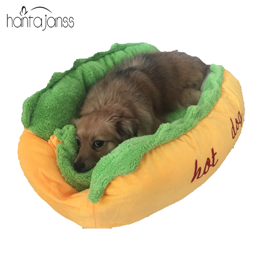 Hantajanss Hot Dog Bed Pet Winter Beds Fashion Sofa