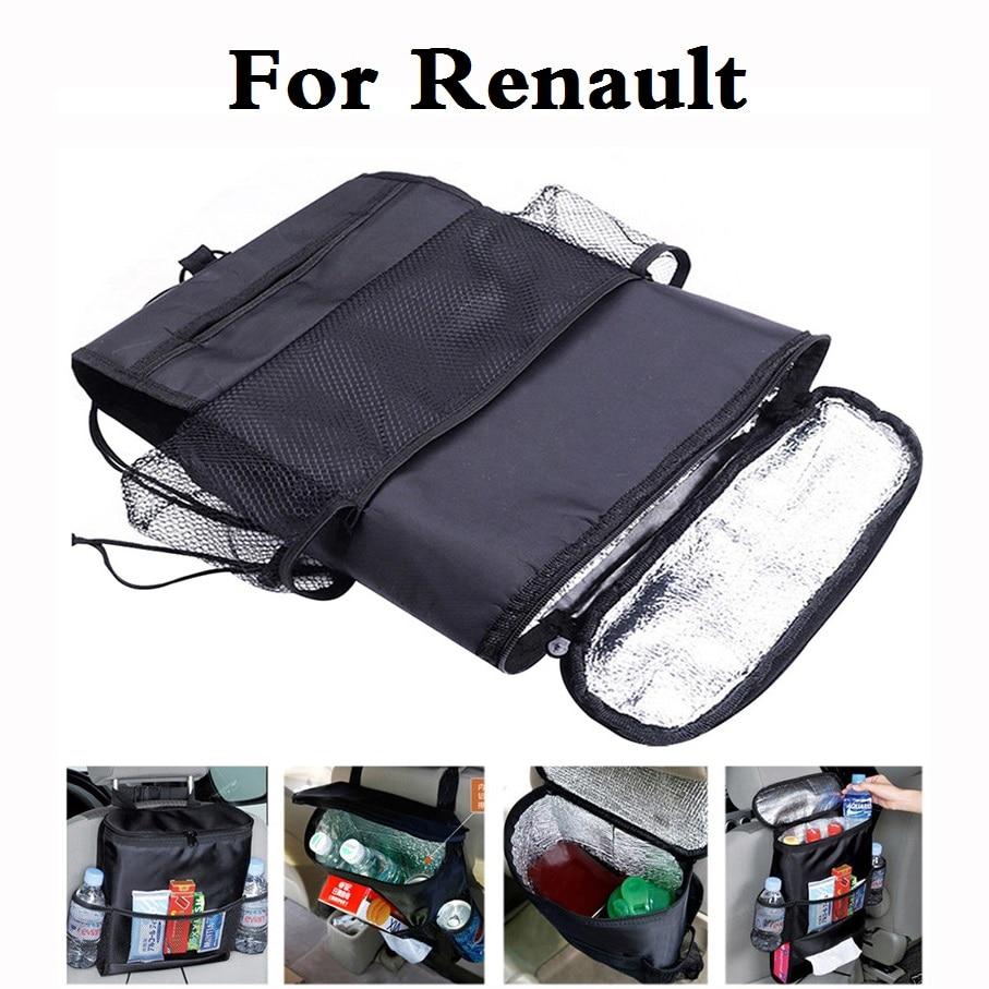 new Car style Cooler Organizer Storage Bag Back Seat Holder For Renault Captur Clio Clio RS Clio V6 Duster Fluence Kadjar Koleos