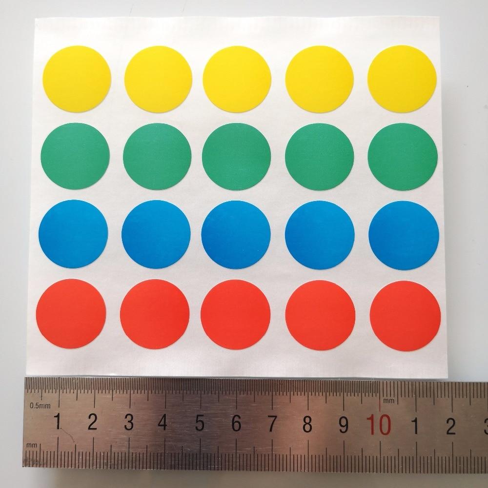 2000 folhas diâmetro 20mm Colorido etiqueta de