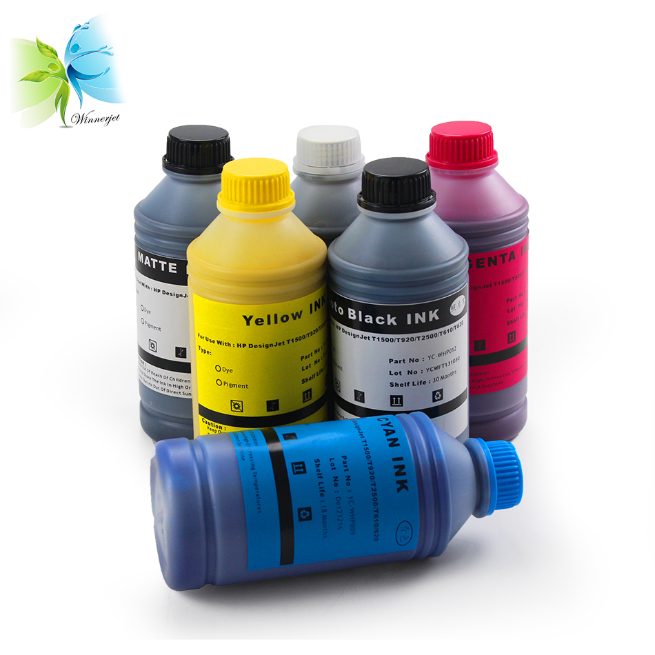 Winnerjet filled ink for HP 72 pigment ink for HP designjet T7100 T1200 T2300 T610 T620 T1120 T770 T790 plotter image
