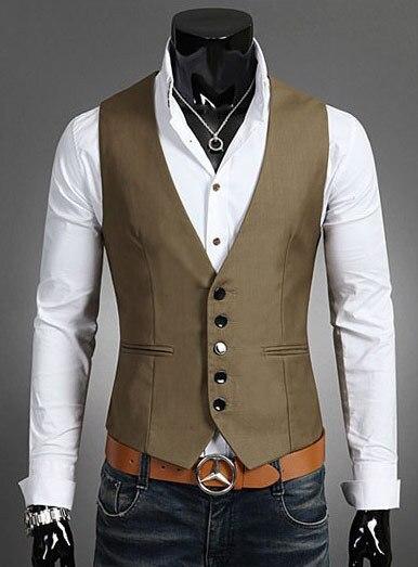 Nueva Llegada 2016 Vestido Formal Para Hombre Chalecos Colete chaleco Masculino de Alta Calidad Chalecos Slim Fit Hombres Ropa J561 Social
