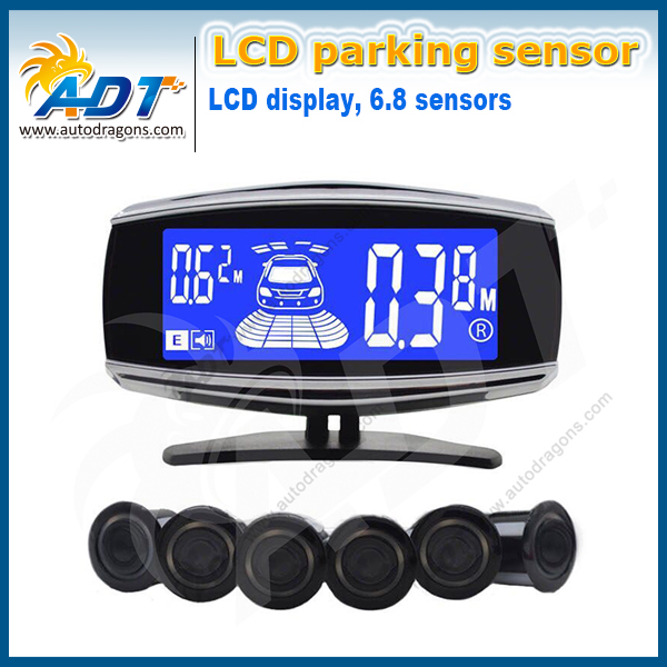 цены  New Radar De Recul Parking/ Multi-Color With 6 Sensors Back And Front View LCD Auto Reversing Sensor System Parking Assist Kits