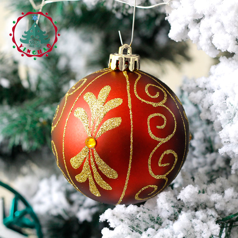 inhoo 2017 christmas tree decoration ball ornaments pendant accessories 8cm red green white gold balls christmas for home party in ball ornaments from home - Red Green And Gold Christmas Tree Decorations