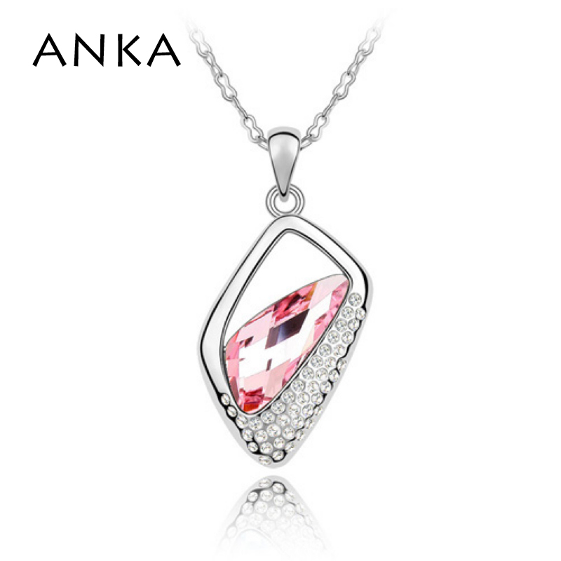 ANKA Nouvelle Arrivée Sterling Bijoux Collier Pendentif En Cristal De Mode  Jewellry Principale Pierre Cristaux de Swarovski  85099 a970e41863f
