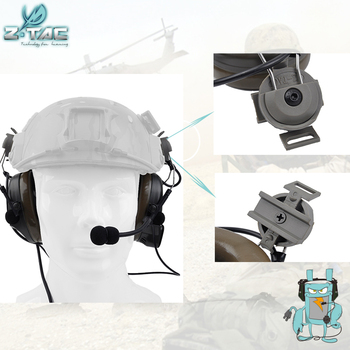 Element Z-tac Tactical Comtac I Headset For FAST helmets Airsoft Outdoor Hunting Fast Helmet Accessories Z032 цена 2017